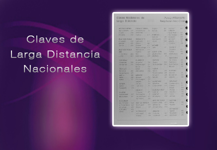 claves larga distancia agenda diaria